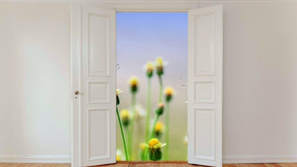 Openslaande hor voor deur